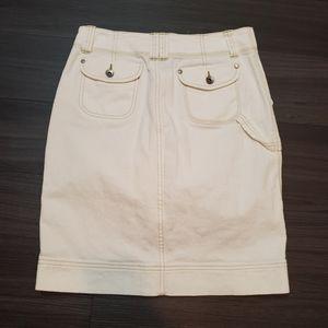 Calvin Klein Jeans Cream Carpenter Style Skirt